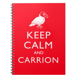 Photo Notebook (6.5' x 8.75', 80 Pages B&W) with Keep Calm & Carrion (vulture) design