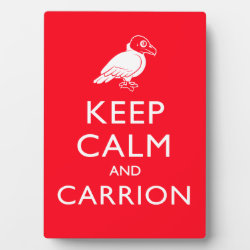 Photo Plaque 5' x 7' with Easel with Keep Calm & Carrion (vulture) design