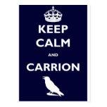 KEEP-CALM-AND-CARRION POSTCARD