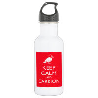 Keep Calm and Carrion Water Bottle (24 oz)