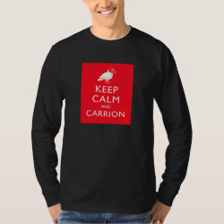 Men's Basic Long Sleeve T-Shirt with Keep Calm & Carrion (vulture) design