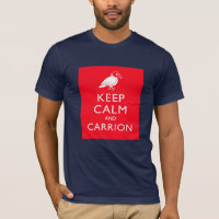 Keep Calm and Carrion Men's Basic American Apparel T-Shirt