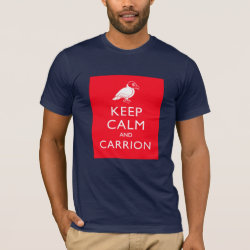Men's Basic American Apparel T-Shirt with Keep Calm & Carrion (vulture) design
