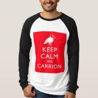Keep Calm and Carrion Men's Canvas Long Sleeve Raglan T-Shirt
