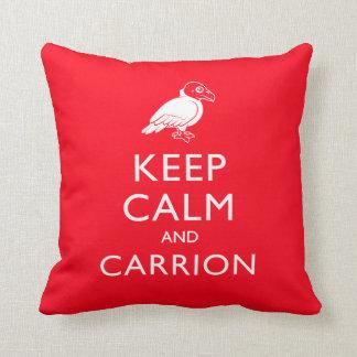 Keep Calm and Carrion Throw Pillow