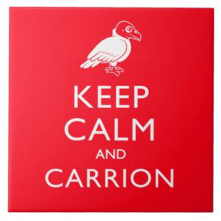 Keep Calm and Carrion Tile