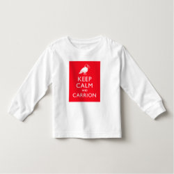 Toddler Long Sleeve T-Shirt with Keep Calm & Carrion (vulture) design