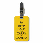 Keep Calm and Carry a Camera Personalized Luggage Tag