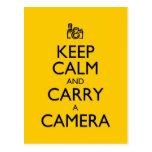 Keep Calm and Carry a Camera Postcards