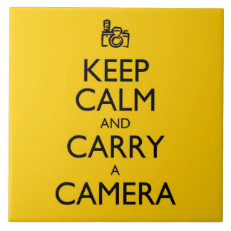 Keep Calm and Carry a Camera Tile