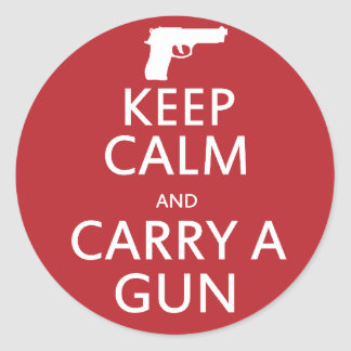Keep Calm and Carry a Gun Stickers