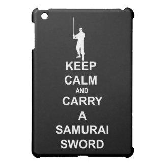 Keep calm and carry a samurai sword cover for the iPad mini