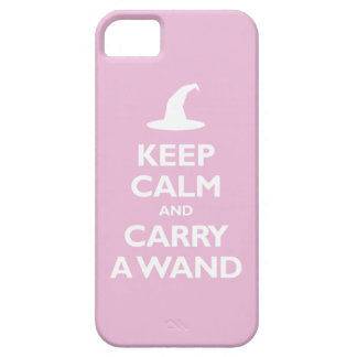 Keep Calm and Carry A Wand (light pink) iPhone 5 Case