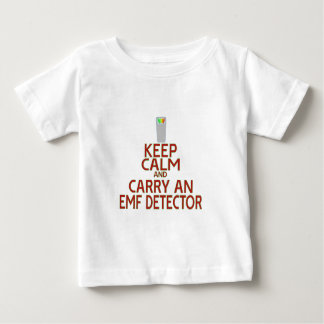 Keep Calm and Carry an EMF Detector (Parody) Baby T-Shirt