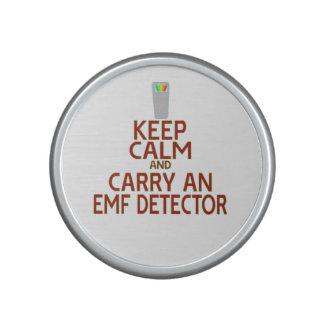 Keep Calm and Carry an EMF Detector (Parody) Bluetooth Speaker