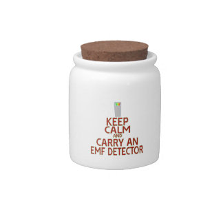 Keep Calm and Carry an EMF Detector (Parody) Candy Dish