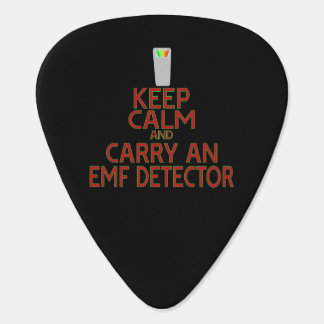 Keep Calm and Carry an EMF Detector (Parody) Guitar Pick