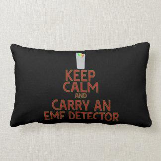 Keep Calm and Carry an EMF Detector (Parody) Pillows