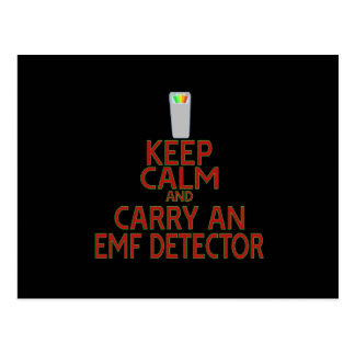 Keep Calm and Carry an EMF Detector (Parody) Postcards