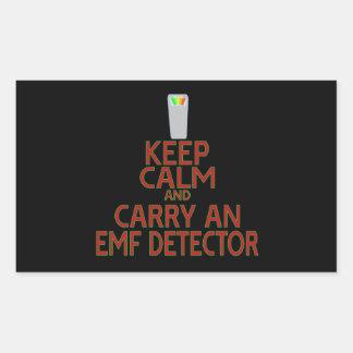 Keep Calm and Carry an EMF Detector (Parody) Rectangular Sticker