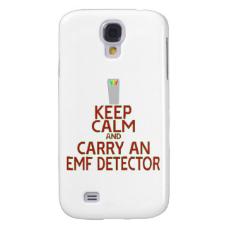 Keep Calm and Carry an EMF Detector (Parody) Samsung Galaxy S4 Cover
