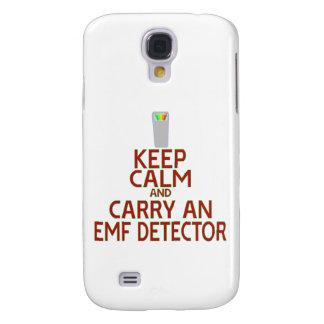 Keep Calm and Carry an EMF Detector (Parody) Samsung Galaxy S4 Cover