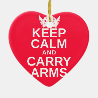 Keep Calm and Carry Arms Danish Viking Gear Ceramic Ornament