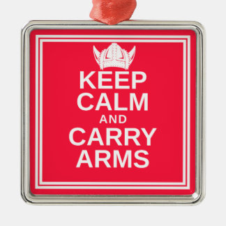Keep Calm and Carry Arms Danish Viking Gear Metal Ornament