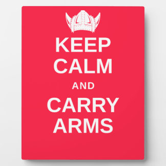 Keep Calm and Carry Arms Danish Viking Gear Plaque