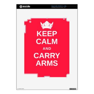 Keep Calm and Carry Arms Danish Viking Gear iPad 2 Skins
