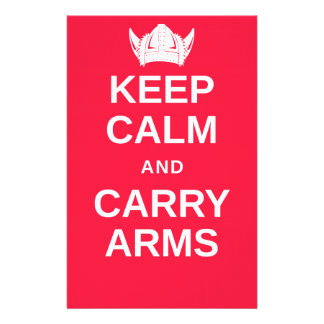 Keep Calm and Carry Arms Danish Viking Gear Stationery