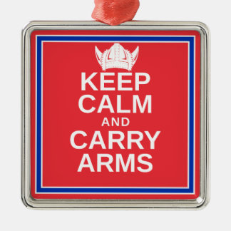 Keep Calm and Carry Arms Norwegian Viking Gear Metal Ornament