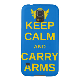Keep Calm and Carry Arms Swedish Viking Gear Case For Galaxy S5