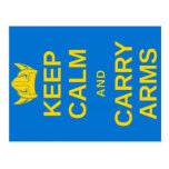 Keep Calm and Carry Arms Swedish Viking Postcard