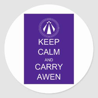 Keep Calm and Carry Awen Stickers