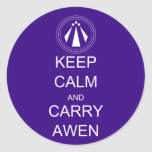 Keep Calm and Carry Awen Sticker