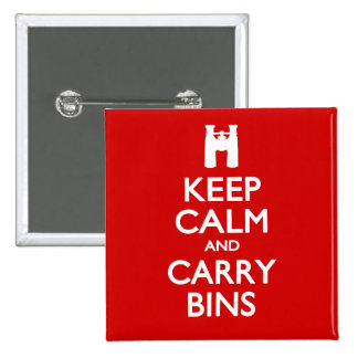 Keep Calm and Carry Bins Buttons