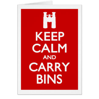Keep Calm and Carry Bins Cards