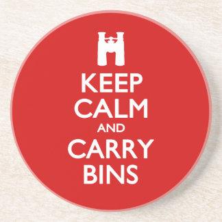 Keep Calm and Carry Bins Coaster