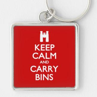 Keep Calm and Carry Bins Keychain