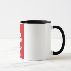 Combo Mug with Keep Calm and Carry Bins design
