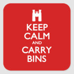 Keep Calm and Carry Bins Stickers