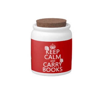 Keep Calm and Carry Books (in any color) Candy Dish