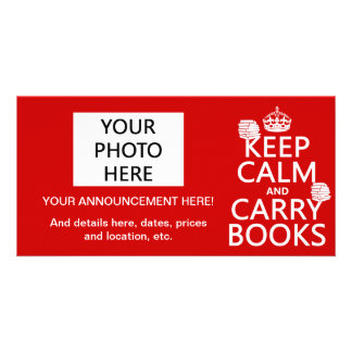 Keep Calm and Carry Books (in any color) Card