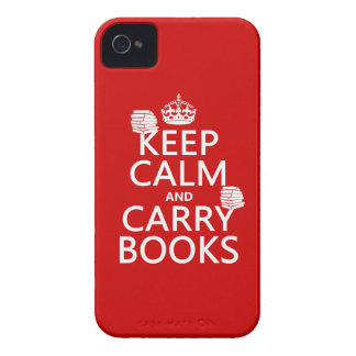 Keep Calm and Carry Books (in any color) iPhone 4 Case-Mate Case