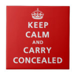 Keep Calm and Carry Concealed Ceramic Tile