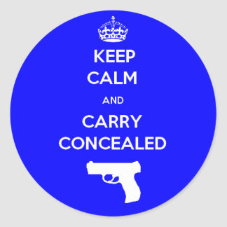 Keep Calm and Carry Concealed Classic Round Sticker