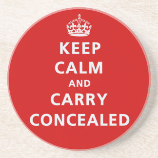 Keep Calm and Carry Concealed Drink Coasters