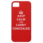 Keep Calm and Carry Concealed iPhone 5 Case