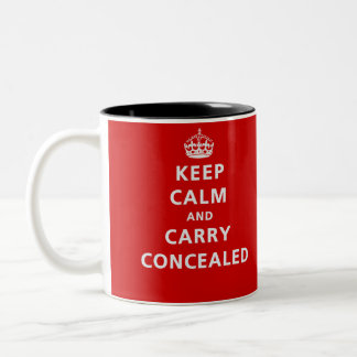 Keep Calm and Carry Concealed Two-Tone Coffee Mug